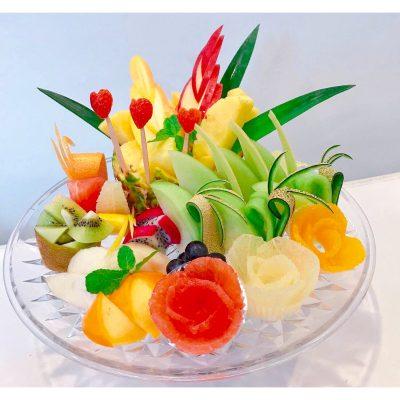 可愛らしいフルーツプレート