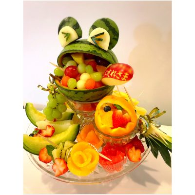 カエルのフルーツプレート
