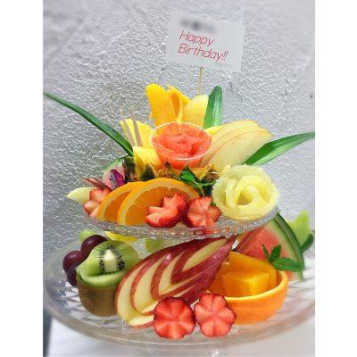 2段のフルーツプレート